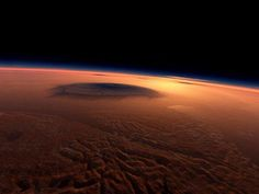 The surface of Mars, as seen from space.