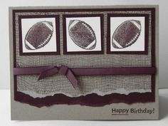 Start the high school football season off with a card using your school colors and Stampin' Up!
