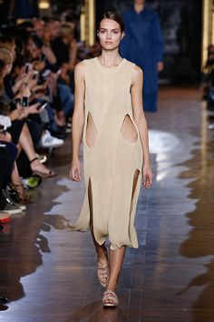 FASHION Magazine | Top Spring 2015 Trends:  Neutral, Minimal, cutout and legs as part of the silhouette, though I don't know that anyone would wear that