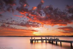 Sunset in Belmont, Lake Macquarie, Central East coast. New South Wales, Australia. (north of Sydney)