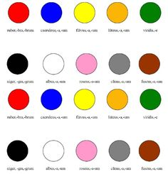 Colores Latini Latin Language Learning, Teaching Latin, Latin Phrases, Latin Words, Latina, Latin Grammar, World Languages, Homeschool High School, Art Classroom