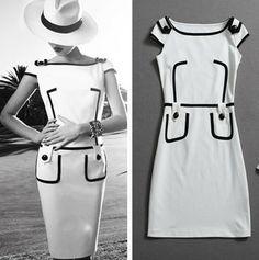 short sleeve knee-length women pencil dress cheap women dresses new fashion 2014 vintage dress