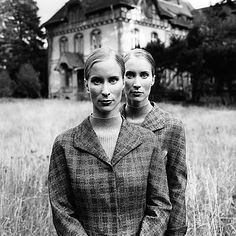 Twin sisters. I really hope Hannah And Taylor never look like this! Haha