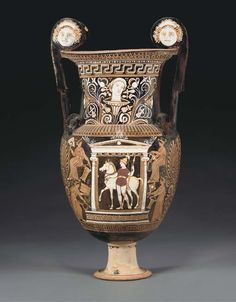 AN APULIAN RED-FIGURED VOLUTE-KRATER ATTRIBUTED TO THE BALTIMORE PAINTER, CIRCA 330-320 B.C.