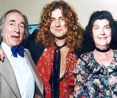 Robert Plant with his parents at The Song Remains The Same premiere,1976.