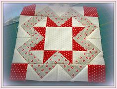 This was a pretty fun block to make. I think I could make a whole  quilt using just this block.    Where you in the BOM Rehab too?