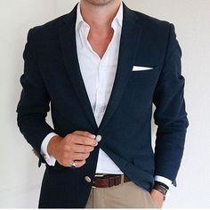 Keep it simple #blazer #shirt #dressshirt #whiteshirt #menswear #mensfashion #ootdmen #men #smartcasual #mensstyle Mens Fashion Blazer, Suit Fashion, Fashion Menswear, Fashion Outfits, Herren Outfit, Fashion Mode, Mode Inspiration, Mens Clothing Styles, Stylish Men
