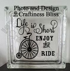 Life Is Short Enjoy The Ride Vintage Bicycle by CraftinessBliss
