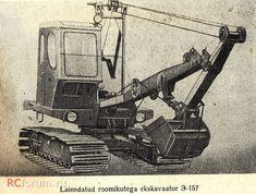 Экскаватор Э-157 с обратной лопатой