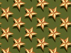 Quilting Treasures A Scout Is... by Norman Rockwell 21491 G Stars / green $8.30/yd
