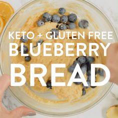 KETO BLUEBERRY BREAD with lemon net carbs blueberrybread ketobread keto bread blueberry glutenfree soft moist lemon paleo dairyfree easy healthy sweet 570057265335823789 Low Carb Bread, Keto Bread, Low Carb Keto, Dairy Free Recipes, Low Carb Recipes, Diet Recipes, Gluten Free, Yogurt Recipes, Recipes Dinner