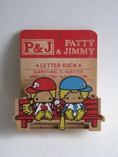 https://flic.kr/p/9mSQ2V | Patty & Jimmy vintage wooden letter rack