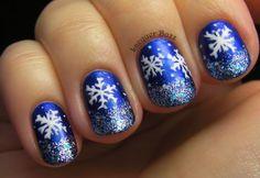 Royal blue snowflakes