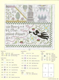 SAMPLER cross stitch pattern.  Gallery.ru / Фото #44 - 51 - ZinaidaR