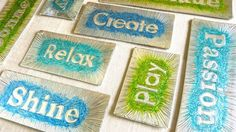 DIY Embossed Word of the Year Magnets | Whimseybox