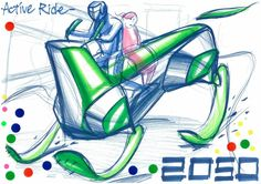 """The 2nd Ultimate Car Design Battle was held in Japan. Here is a CHAMPION's sketch! Competitors drew car sketches within a time limit of 30min by using only a pen and marker! The theme for the final round was """"A Car Driven By Young People in 2050."""" #sketch #automotive #automotivedesign #instadaily #carstagram #instacars #cars #cargram #drawing #carsketch #copic #instadesign #car #productdesign #transportation #cardesigncommunity #carbodydesign #Nissan #Italdesign #ford #toyota #daihatsu…"""