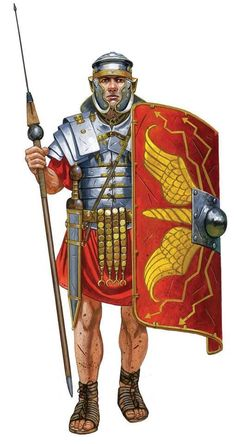 Римский легионер. Вторая половина I в. н.э. Художник Johnny Shumate.