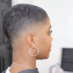 Short Hairstyles for Black Women with Trending Images - Easy Hairstyles Natural Hair Short Cuts, Short Natural Haircuts, Tapered Natural Hair, Short Hair Cuts, Natural Hair Styles, Short Hair Styles, Modern Haircuts, Short Fade Haircut, Shaved Hair Cuts