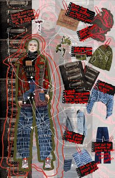 jasmine castaneda nava moore college of art and design reducing waste and reusing levis garments is what really inspired my whole project and designs in order to create - The world's most private search engine Fashion Art, Top Fashion, Fashion Collage, Fashion Fabric, Fashion Poses, Female Fashion, Denim Fashion, Fashion Editorials, High Fashion