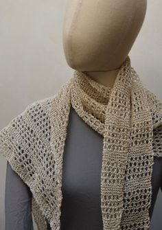 Ito Yarns Wabi-Sabi Gima Lace Scarf Knitting Kit + Free Shipping!