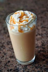 Homemade vanilla fraps!! These are so yummy and so much cheaper than starbucks!