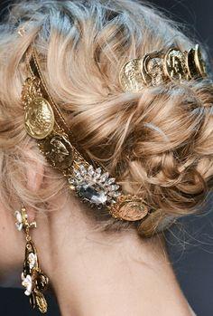 Roman style hair