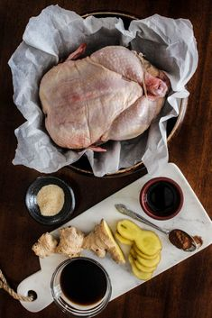 Oven Roasted Peking Chicken - A cross between a roasted chicken and Peking duck, this recipe is for days when you have that craving for peking duck but chicken is all you have to work with. Healthy Chinese Recipes, Best Chinese Food, Oven Chicken Recipes, Cooking Recipes, Peking Chicken, Peking Duck, Roast Duck, Duck Recipes, Oven Roast