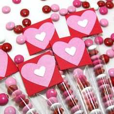 Valentine's Day M&M Candy Treat Bags and Toppers - Personalized School Valentines, Kids Valentines, Valentines Day Party Favors, Candy Tubes