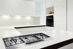 I know it's a bit crazy to want a white kitchen, but I do! I love the lighting in this photo, and it looks really modern and sleek = Wok, My Dream Home, House Tours, Home Appliances, Chicken Wire, Slow Cooking, Dream Garden, Hobby Lobby, Kitchen