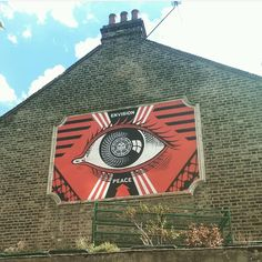 """""""@michelle_amos spotted this in #London. We always appreciate your photos.  #shepardfairey #obeygiant #turnpikelane #haringey #envisionpeace"""""""