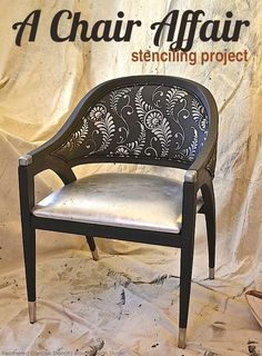 chair affair for charity stylish stenciled chair project for barnabas network, chalk paint, how to, painted furniture