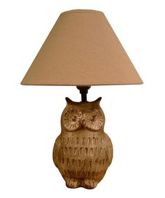 Another great find on #zulily! Owl Lamp by Wholesale Home Décor #zulilyfinds