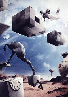 Salvador Dali Creative Collage