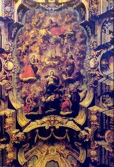 Teto da Igreja de Nossa Senhora da Conceição da Praia, Salvador, Bahia.  José Joaquim da Rocha (1737 - 1807) Salvador BA 1807). Pintor, encarnador, dourador e restaurador.  http://sergiozeiger.tumblr.com/post/96582611953/jose-joaquim-da-rocha-1737-1807-salvador-ba