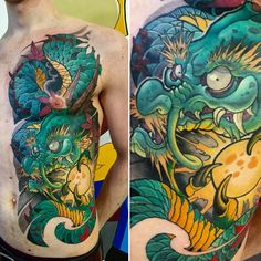 Tattoo Dmitriy Berezin - tattoo's photo In the style Oriental, Male, Dragons, Asi Tattoo On, Lotus Tattoo, Tattoo Photos, Japanese Dragon Tattoos, Japanese Tattoo Art, Koi Dragon Tattoo, Cool Tattoos, Tatoos, Full Chest Tattoos