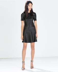 FAUX LEATHER DRESS from Zara