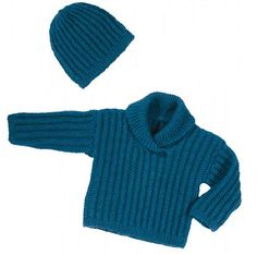 Baby Sweater and Hat – Knitting Pattern Central