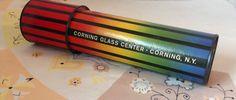 Vintage Corning Glass Kaleidoscope, Corning, New York, Corning Collectibles Toy by LakesideVintageShop on Etsy