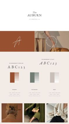 The Auburn Brand Sheets are a series of 24 individually designed branding templa. - The Auburn Brand Sheets are a series of 24 individually designed branding template sheets designed - Corporate Design, Brand Identity Design, Brand Design, Site Web Design, Graphisches Design, Cover Design, Adobe Indesign, Adobe Photoshop, Design Facebook
