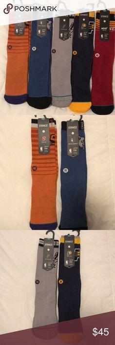 5 pair BNWT STANCE 558 NBA men's socks size L Pacers- spurs- heat- suns- and timberwolves ⭐️5 pair BUNDLE ♥️♥️♥️ Stance Underwear & Socks Athletic Socks