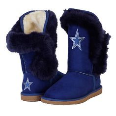 Dallas Cowboys Cuce Champions Navy Fur Boot