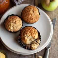 Light and fluffy apple and cinnamon muffins with a hint of orange.