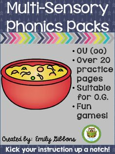 OU (OO) Multisensory Phonics Practice and Word Work Activities Orton-Gillingham - Word List Builder Cursive Handwriting Practice, Cursive Writing Worksheets, Word Work Activities, Phonics Activities, Phonemic Awareness Activities, Guess The Word, Phonics Sounds, Sound Words, Teaching Techniques