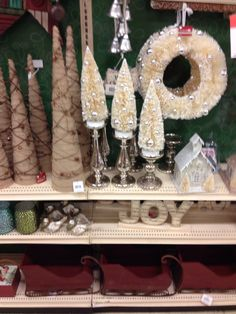 Christmas trees on candle sticks LOVE
