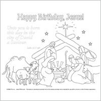 unto you is born happy birthday jesus manger scene coloring page
