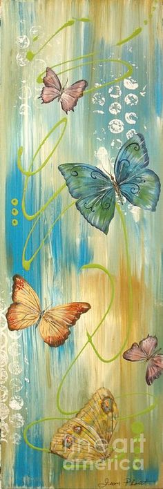Butterfly Print featuring the painting Butterfly Bliss 1 by Jean Plout