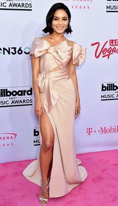 Billboard Music Awards 2017 Best Dressed Stars - Vanessa Hudgens in a pink bow Marchesa dress