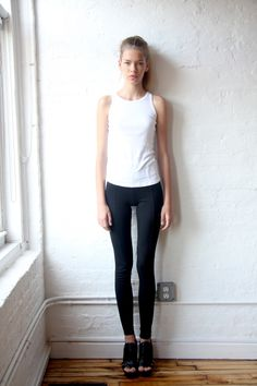 Basics. And man, she is so perfectly thin.