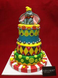 DUMBO'S CIRCUS CAKE by #RedCarpetCakeDesign®
