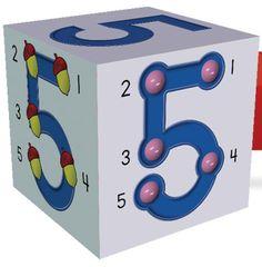 Que tal imprimir cubos com números